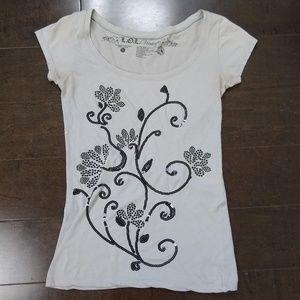 L.O.L. Vintage   Short Sleeve Embellished T-Shirt